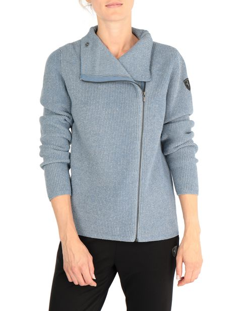 Cardigan bicolore con full zip
