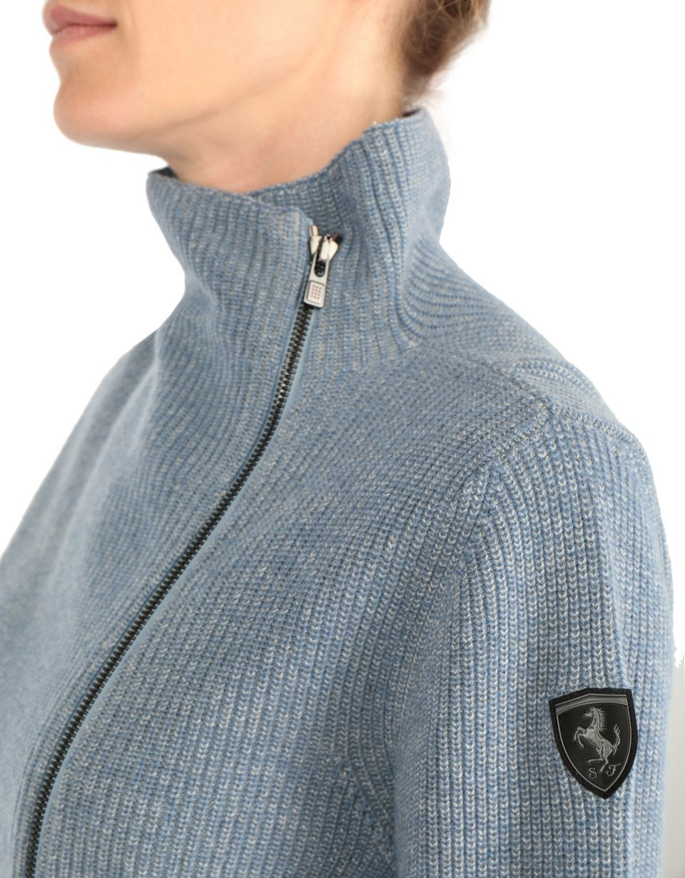 Scuderia Ferrari Online Store - Two-color cardigan with full zipper - Zip Sweaters