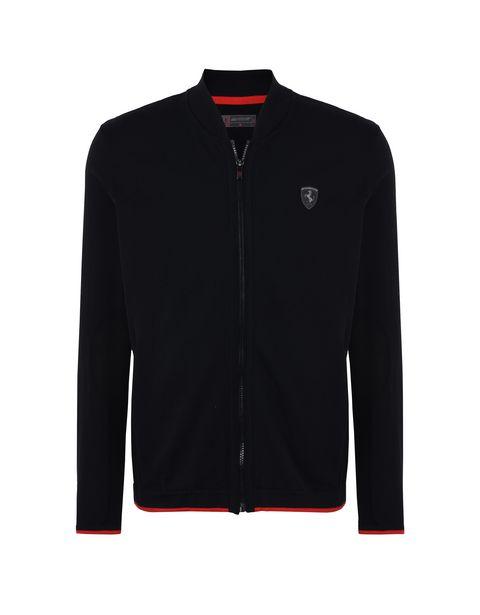 Scuderia Ferrari Online Store - Men's tricot sweater with central zipper -