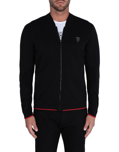 Men's tricot jumper with central zip