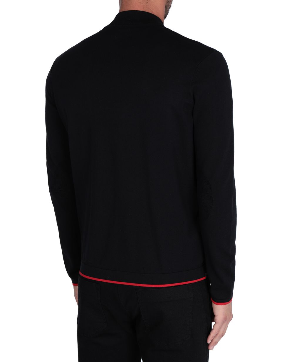 Scuderia Ferrari Online Store - Men's tricot jumper with central zip -