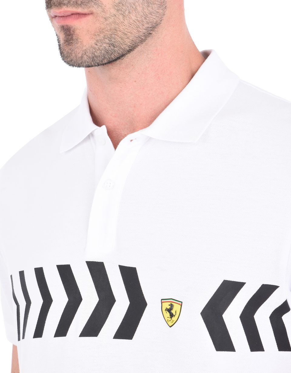Scuderia Ferrari Online Store - Men's polo shirt in cotton pique -
