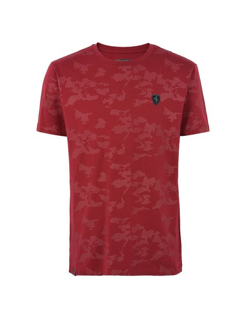 Scuderia Ferrari Online Store - Men's camouflage jersey t-shirt - Short Sleeve T-Shirts