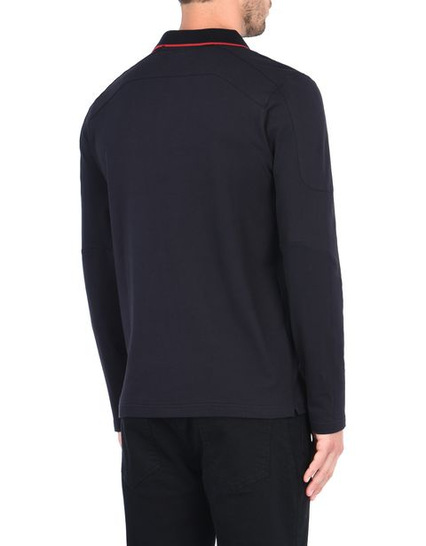 Men's long-sleeved polo shirt in cotton piquet