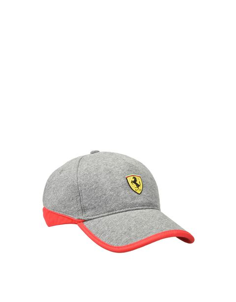 Men's jersey hat with red stripe