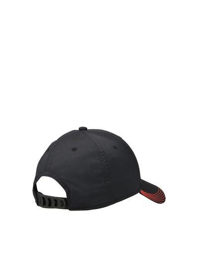 Scuderia Ferrari Online Store - Men's cap in a technical fabric with a decorated peak - Baseball Caps