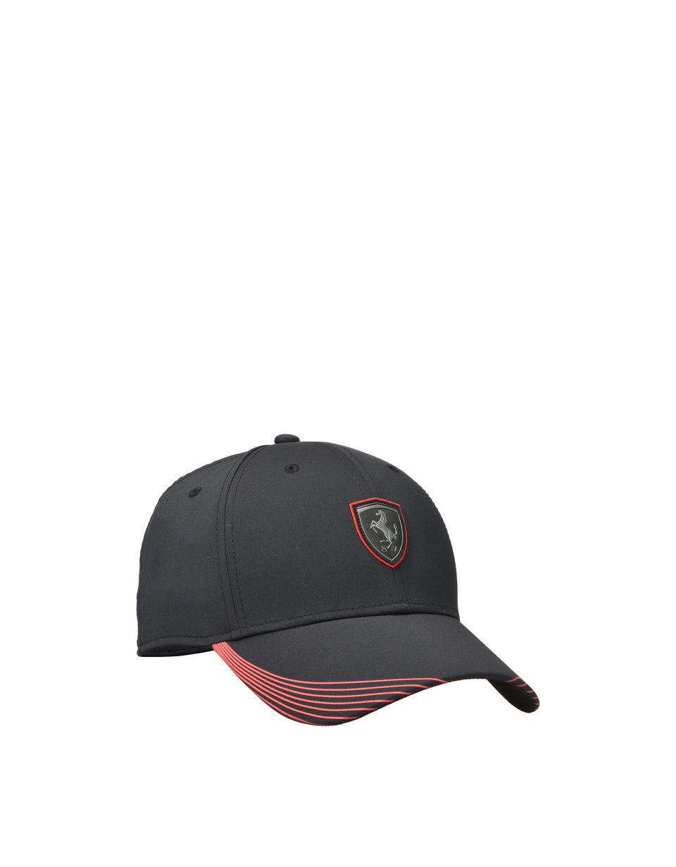 Scuderia Ferrari Online Store - Men's cap in a technical fabric with a decorated peak - Baseball Caps