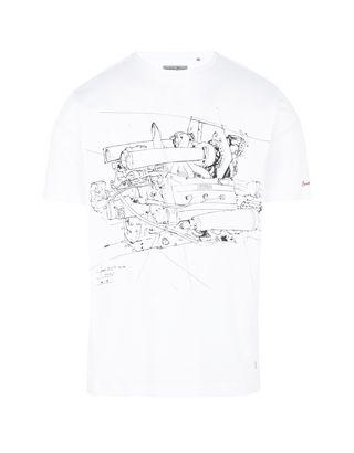Scuderia Ferrari Online Store - Herren-T-Shirt mit Maxi-Print - Kurzärmelige T-Shirts