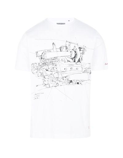 Scuderia Ferrari Online Store - 男士超大印纹 T 恤 - Short Sleeve T 恤