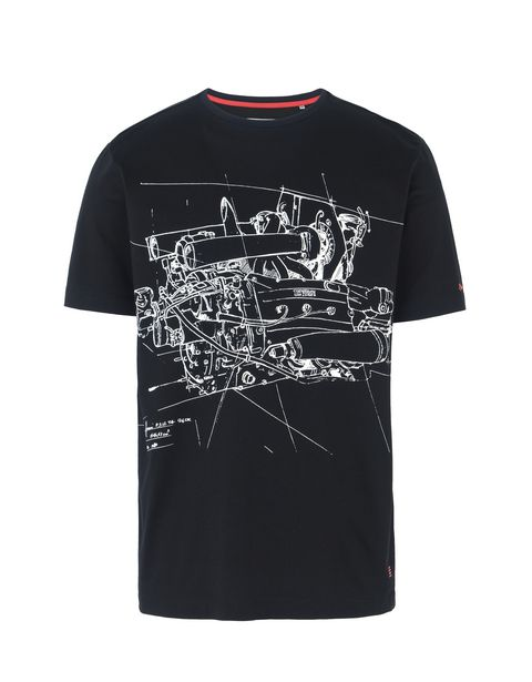 Scuderia Ferrari Online Store - Men's T-shirt with maxi print - Short Sleeve T-Shirts