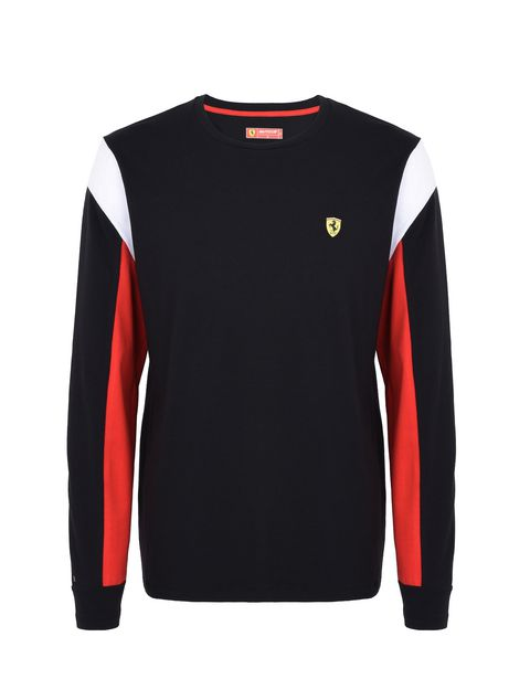 Scuderia Ferrari Online Store - Long-sleeved men's jumper in jersey - Long Sleeve T-Shirts