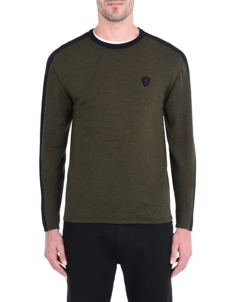 Men's sweater in extra-fine wool