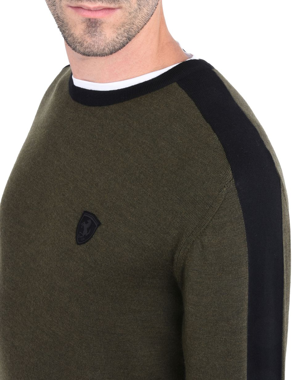 Scuderia Ferrari Online Store - Men's sweater in extra-fine wool -