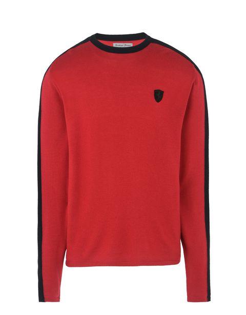 Scuderia Ferrari Online Store - Herren-Pullover aus extrafeiner Wolle - Rundhalspullover