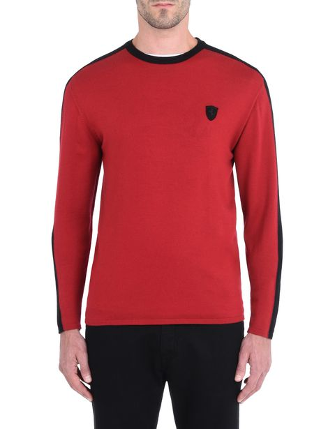 Men's sweater in extrafine wool