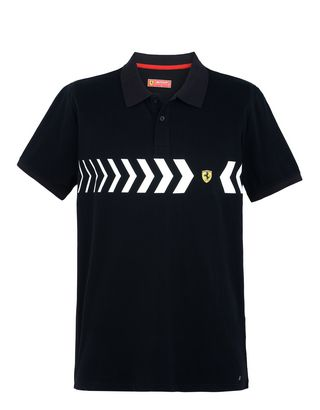 Scuderia Ferrari Online Store - Men's piquet cotton polo shirt - Short Sleeve Polos