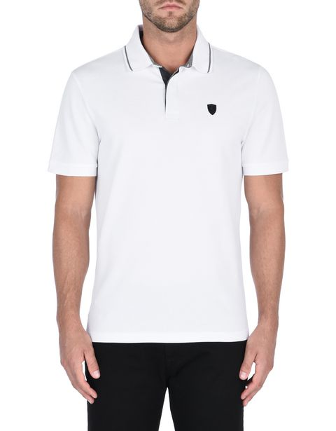 Men's short-sleeved polo shirt in maxi piqué cotton