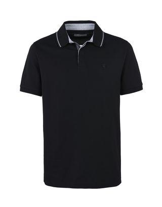 Scuderia Ferrari Online Store - Men's short-sleeved polo shirt in maxi piqué cotton -