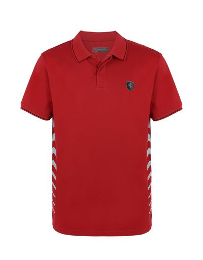Scuderia Ferrari Online Store - Men's cotton piquet polo shirt - Short Sleeve Polos