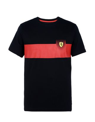 Scuderia Ferrari Online Store - Men's printed cotton T-shirt - Short Sleeve T-Shirts