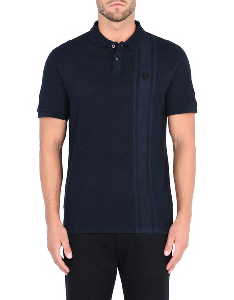 Short-sleeved printed polo shirt