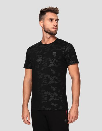 Men's jersey T-shirt with camouflage print