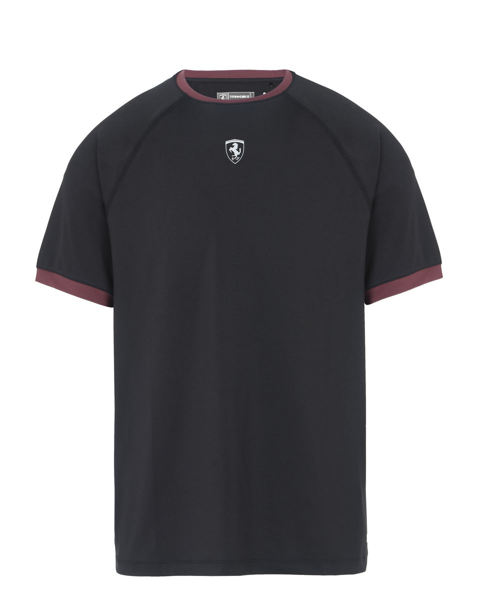 Scuderia Ferrari Online Store - Men's short-sleeved T-shirt with contrasting details - Short Sleeve T-Shirts