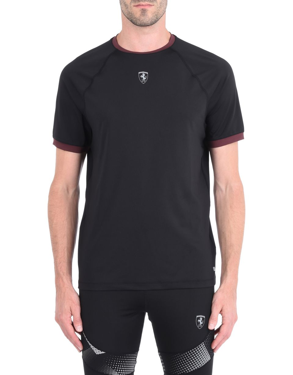 Scuderia Ferrari Online Store - Short-sleeve men's T-shirt with contrasting details - Short Sleeve T-Shirts