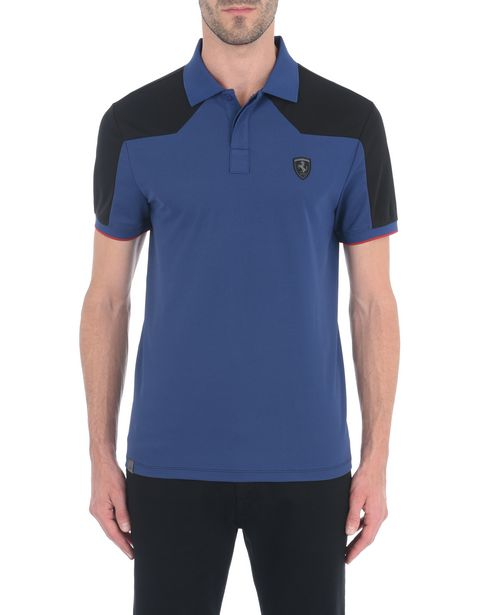 Men's short-sleeved polo shirt in technical cotton piquet