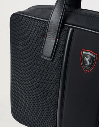 Scuderia Ferrari Online Store - Hypergrid work bag with crossbody strap and leather details - Briefcase Bags