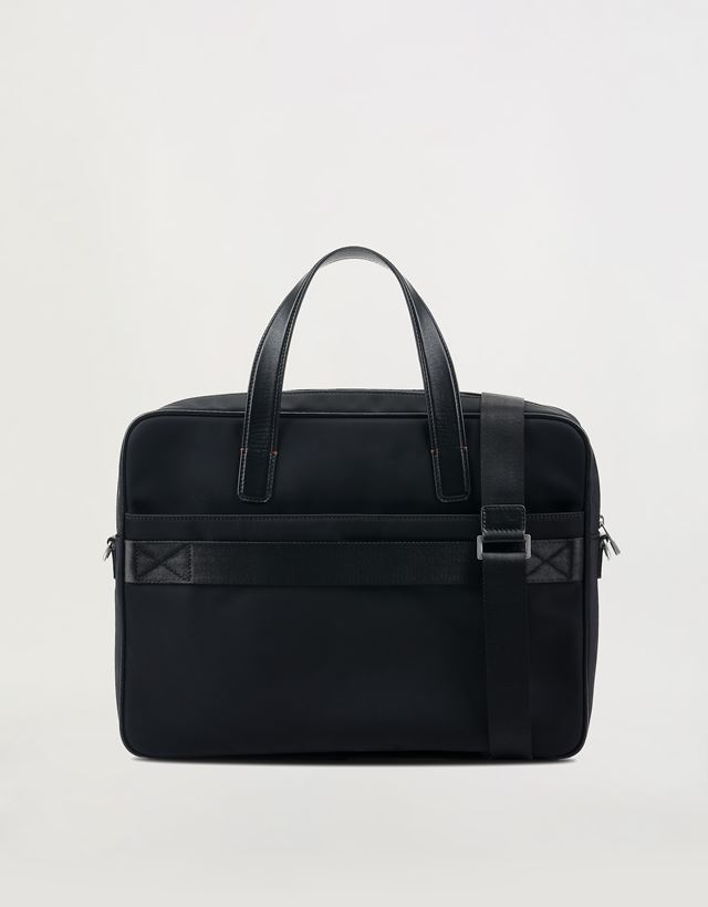 d69d473b527f ... Scuderia Ferrari Online Store - Hypergrid briefcase with shoulder strap  and leather detailing - Briefcase Bags ...