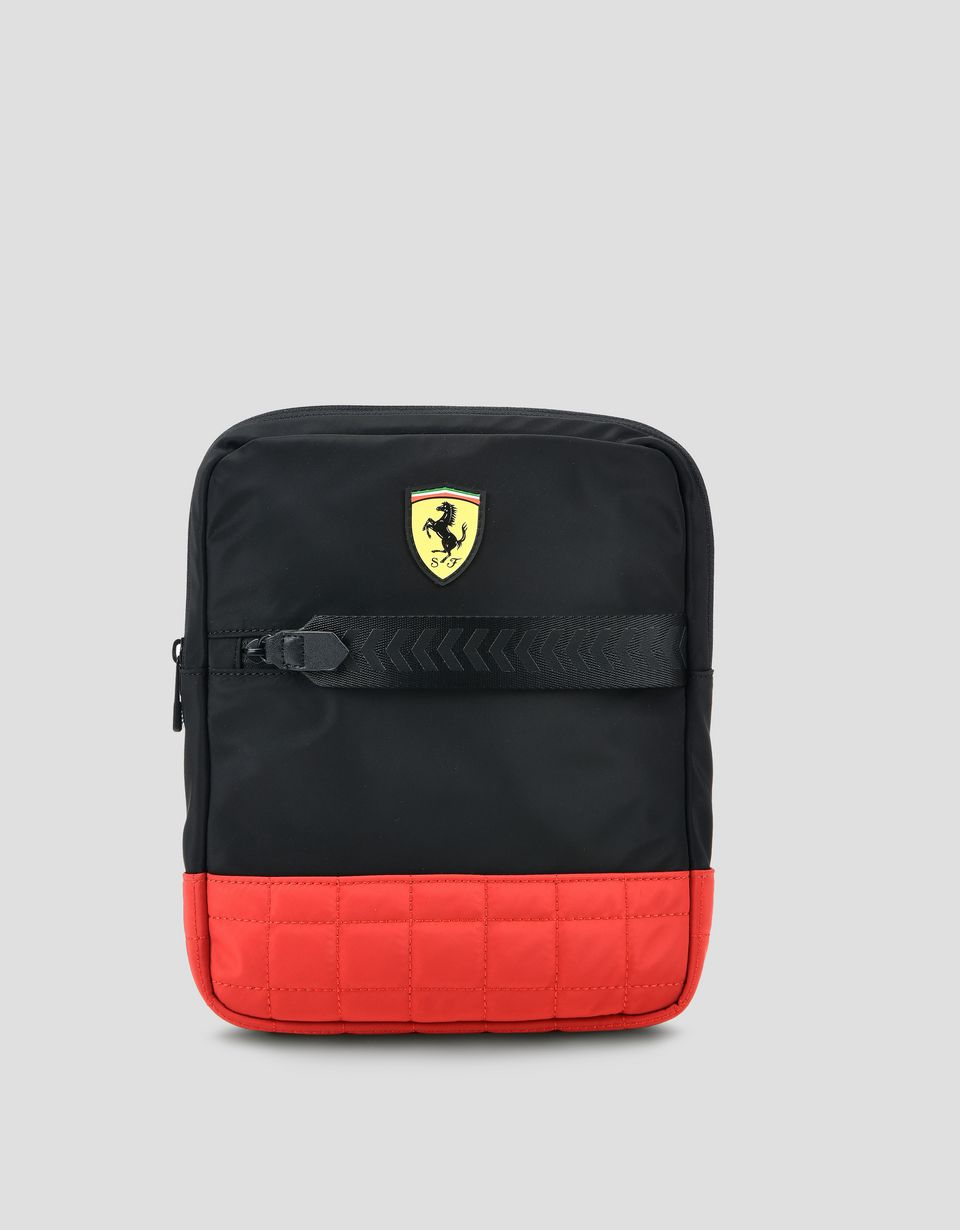 Scuderia Ferrari Online Store - Two-colour crossbody bag with Shield -