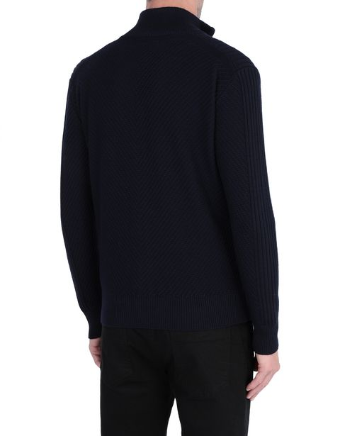 Men's sweater with full zip