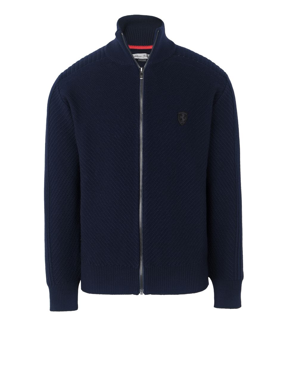 Scuderia Ferrari Online Store - Full zip men's sweater - H-Zip Jumpers