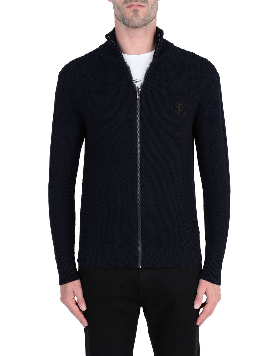 Scuderia Ferrari Online Store - Men's sweater with full zip - H-Zip Jumpers
