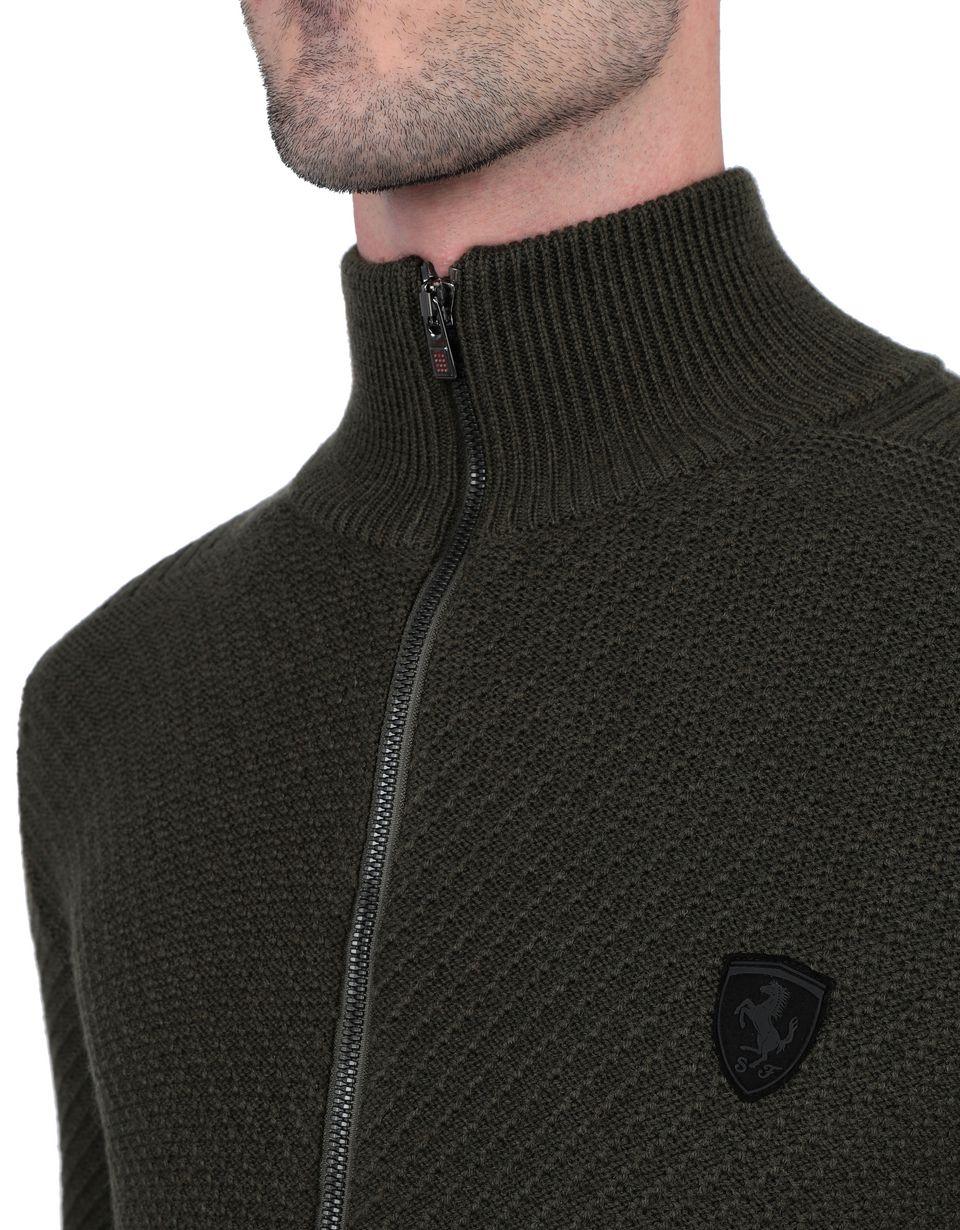 Scuderia Ferrari Online Store - Herren-Pullover mit durchgehendem Reißverschluss - H-Zip Jumper
