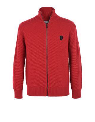 Scuderia Ferrari Online Store - メンズジップアップニット - ハーフジップセーター