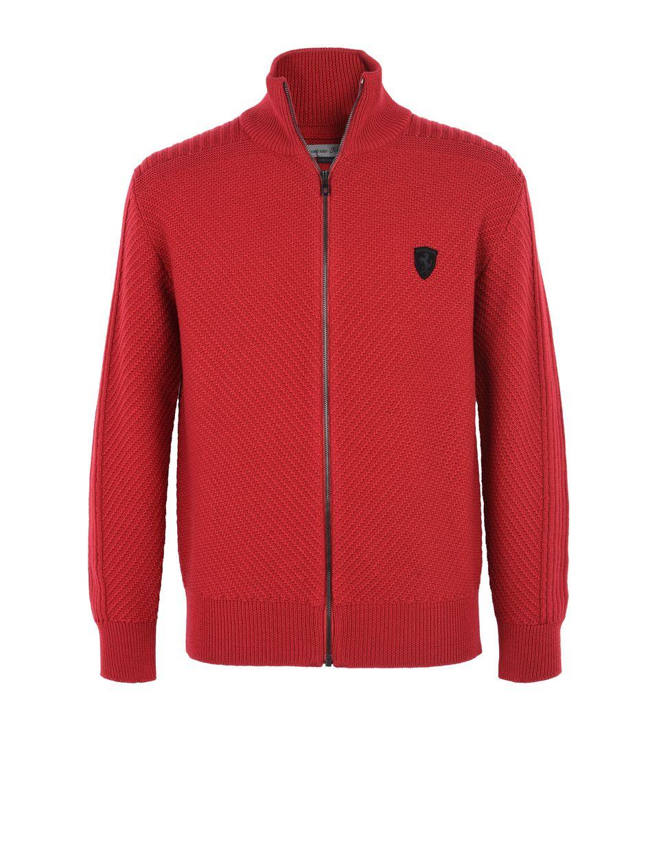 Scuderia Ferrari Online Store - Мужской кардиган с застёжкой-молнией во всю длину - H-Zip Jumper