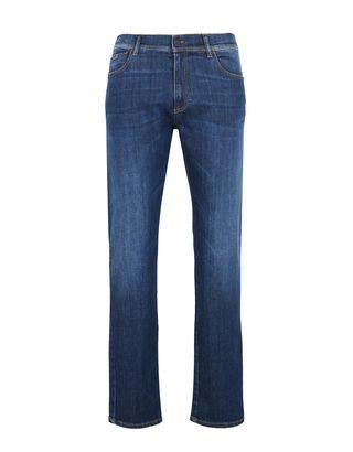 Scuderia Ferrari Online Store - Men's slim fit jeans - 5-pocket trousers