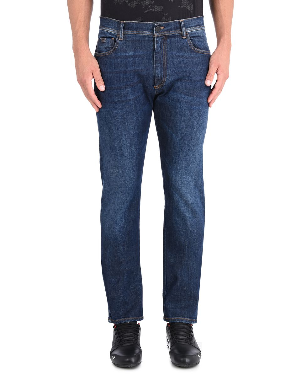 Scuderia Ferrari Online Store - Men's slim fit jeans - 5-pocket trousers