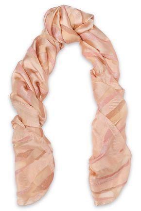 ROBERTO CAVALLI Metallic knitted scarf