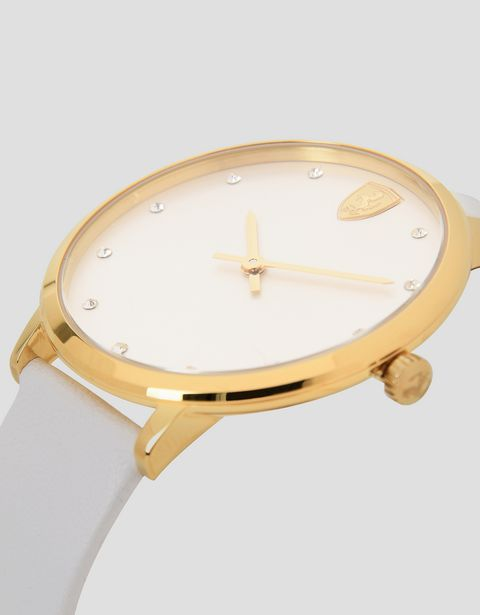 Ultraleggero women's watch with white dial and strap