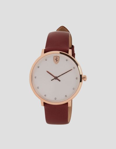 Ultraleggero women's watch with white dial