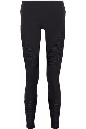 KORAL Forge paneled ribbed stretch-jersey leggings