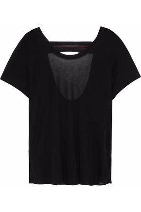 KORAL Euphoria cutout mesh-trimmed Tencel-jersey T-shirt