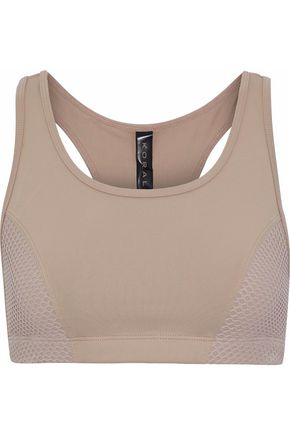 KORAL Force Versatility mesh-paneled cutout stretch sports bra