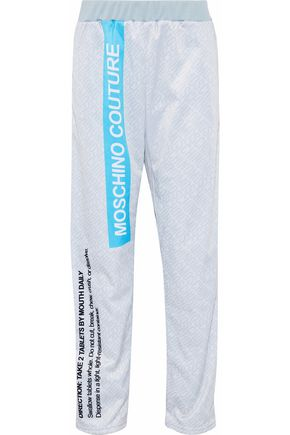 MOSCHINO Printed stretch-jersey track pants