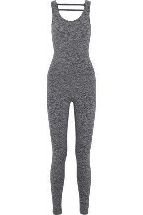 KORAL Cutout mélange stretch-jersey bodysuit