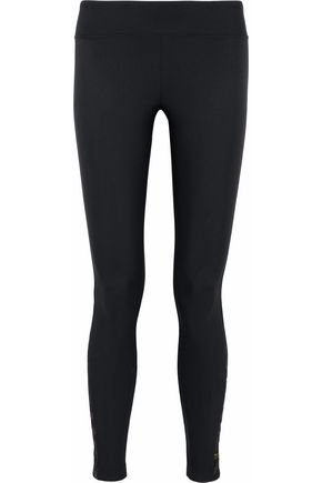 KORAL Metallic jacquard-paneled tech-jersey leggings