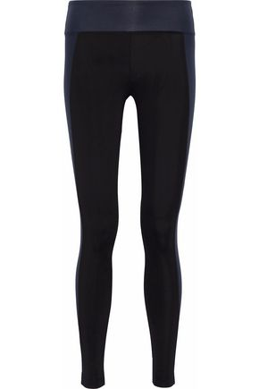 KORAL Metallic two-tone tech-jersey leggings